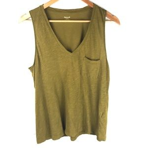 MADEWELL olive green tank top M